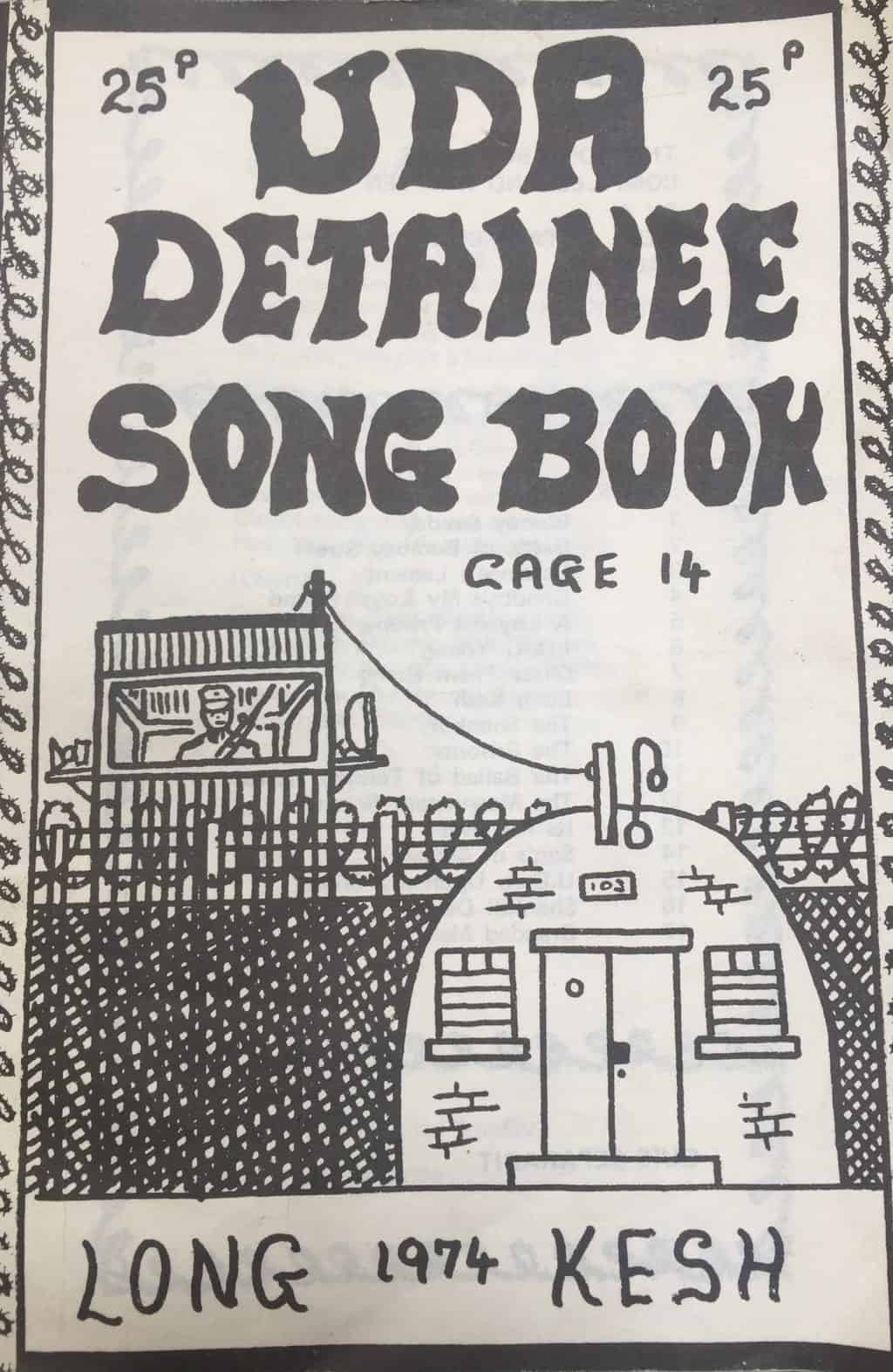 UDA detainee song book