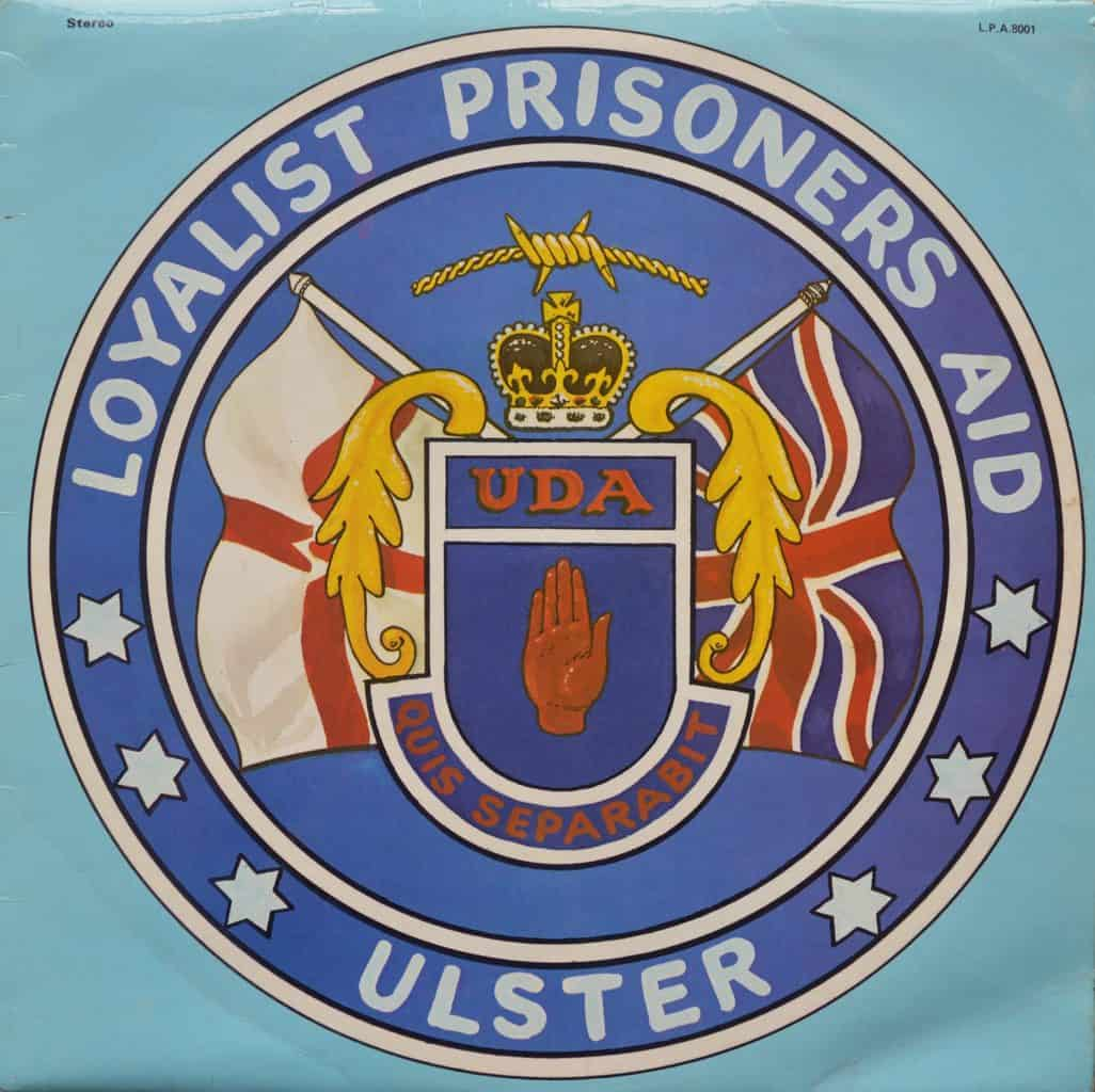 Loyalist Prisoners Aid - Ulster - UDA - Flags of England and union jack